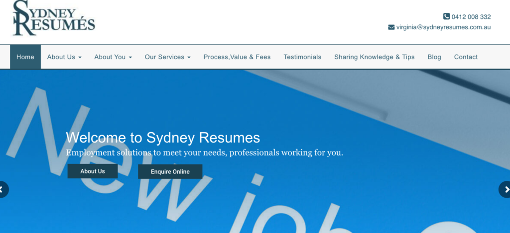 sydney resumes website
