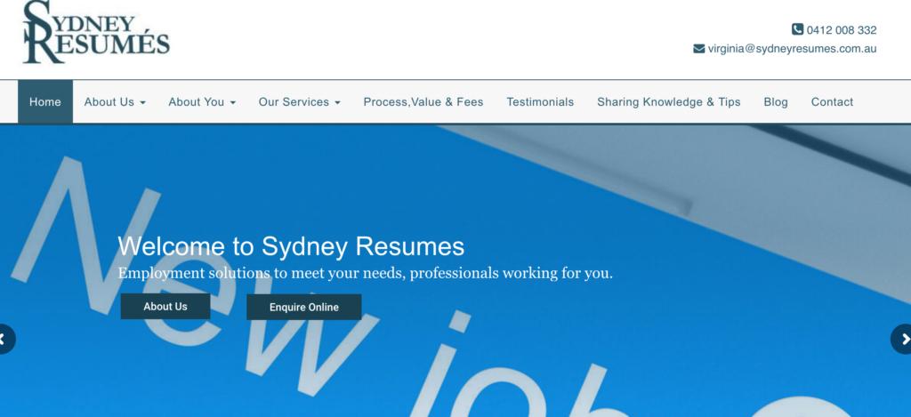 sydney resumes website