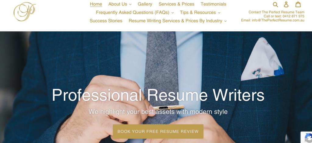 theperfectresume website